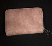 portemonnee met rits en extra vakje op de buitenkant roze